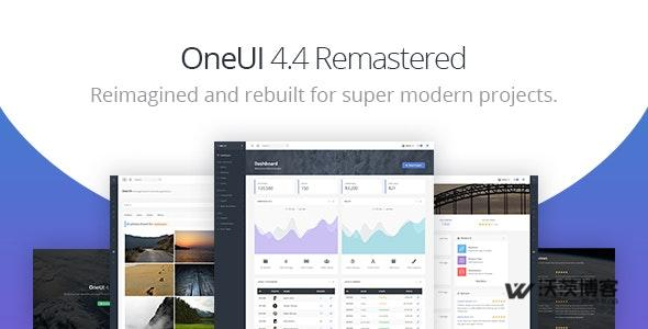 OneUI V4.4 - BOOTSTRAP 4 后台模板免费分享